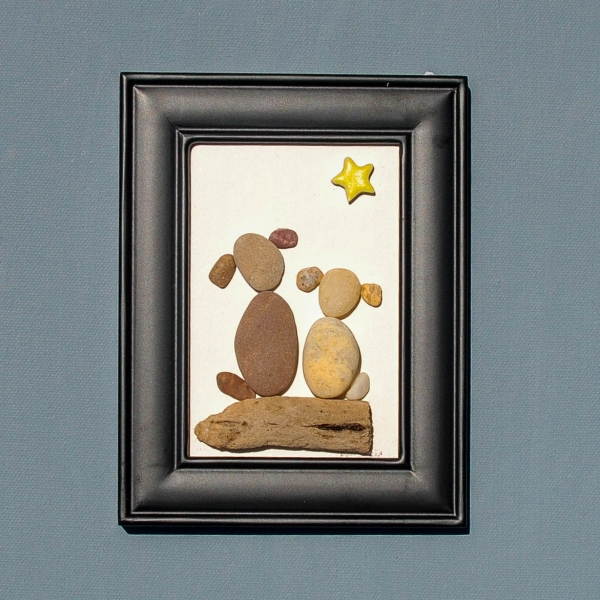 JPW beach art 2 dogs with star