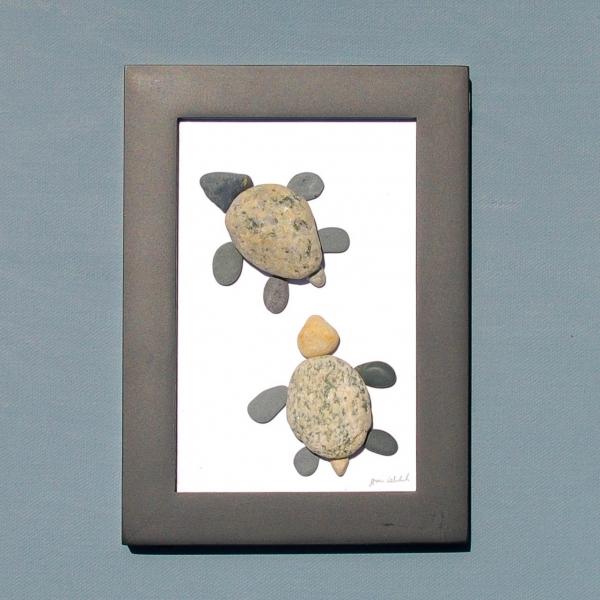 JPW beach art 2 turtles framed