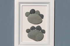 JPW beach art 2 paws white frame