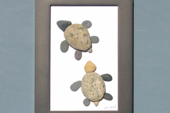 JPW beach art 2 turtles framed