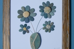 JPW beach art 4 stone flowers