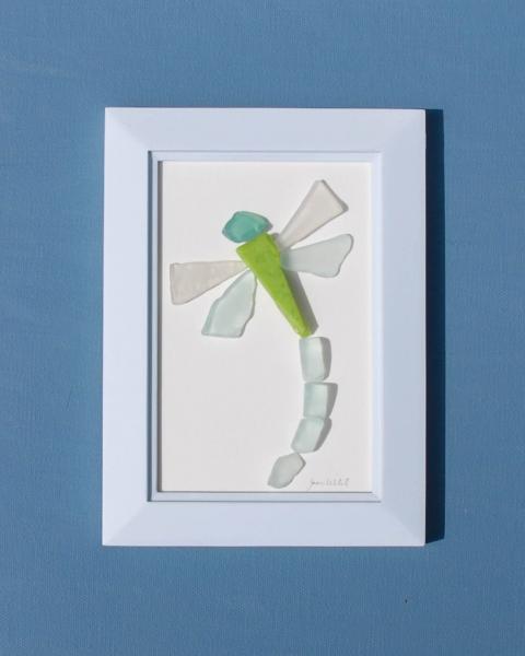 JPW beach art green glass dragonfly